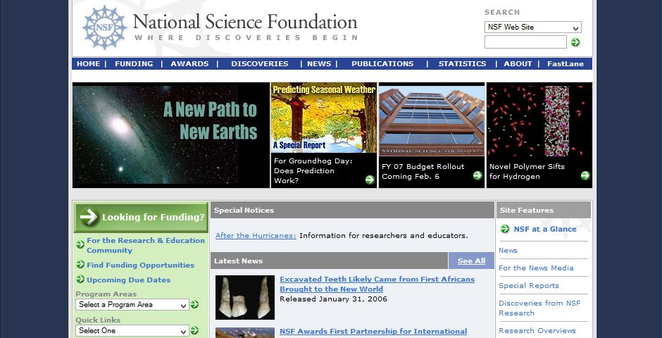 People's Voice - National Science Foundation Website