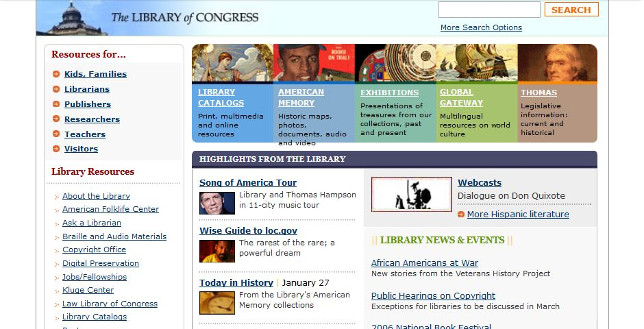 People's Voice - Library of Congress Web Site