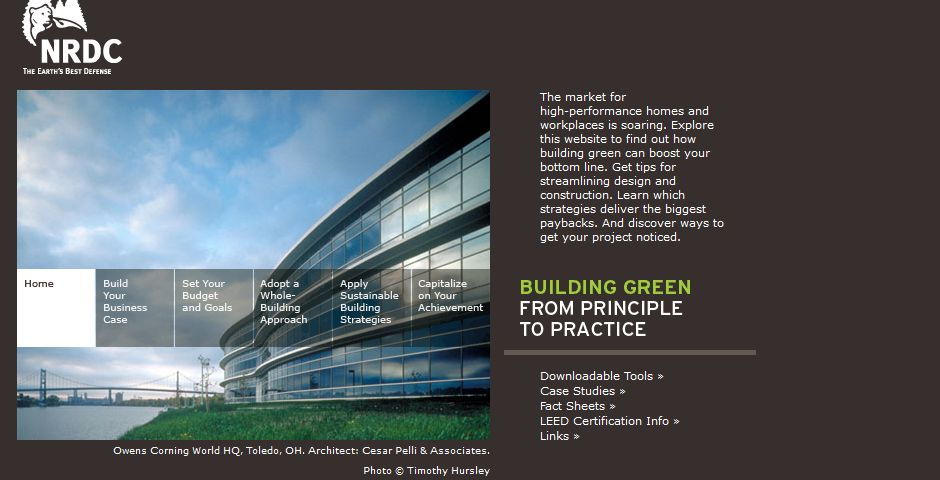 Webby Award Winner - Building Green: From Principle to Practice