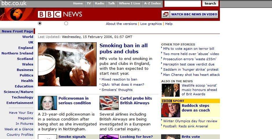 2006 Webby Winner - BBC News