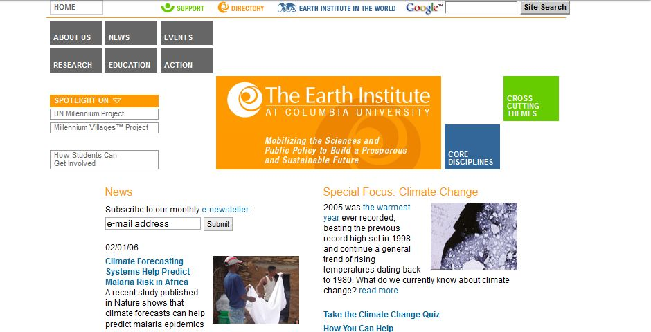 People's Voice - The Earth Institute at Columbia University