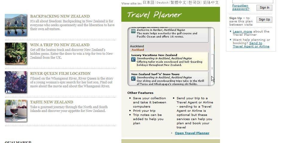 2006 Webby Winner - www.newzealand.com/travel