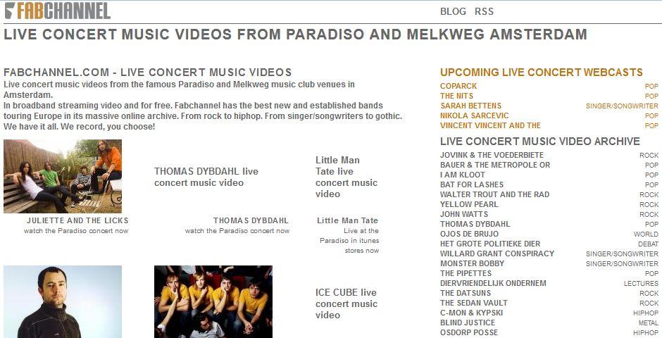 Nominee - Fabchannel.com – Concerts Online