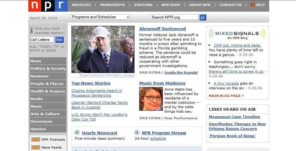 2006 Webby Winner - NPR.org
