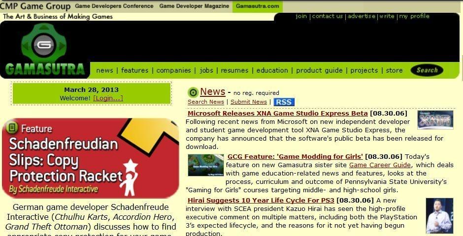 2006 Webby Winner - Gamasutra