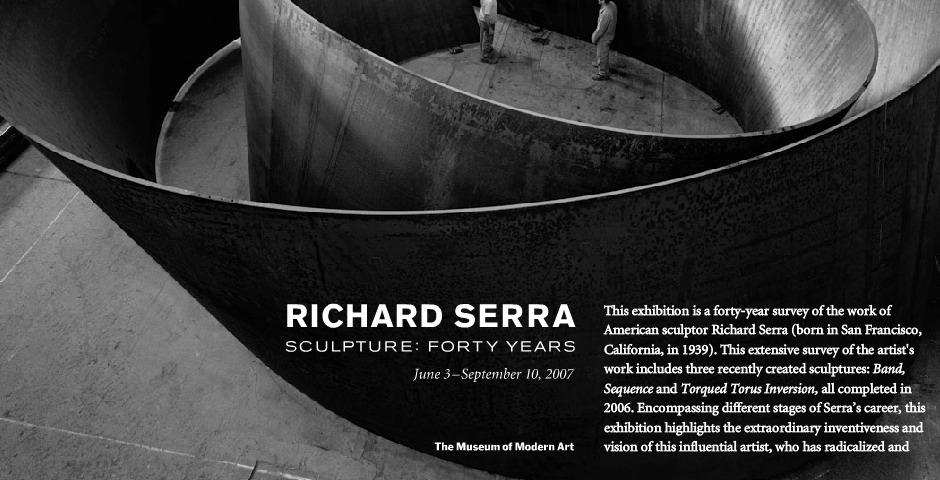 Richard Serra Sculpture Forty Years Richard Serra Sculpture Forty