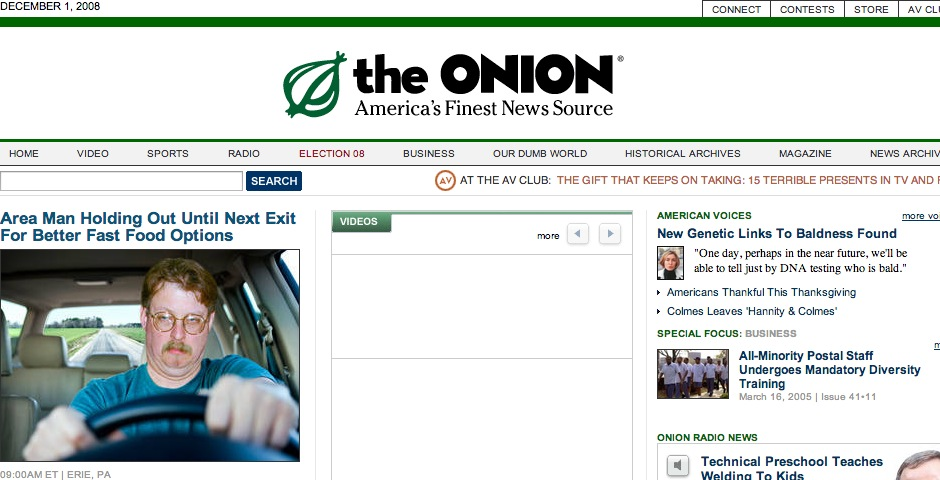 Webby Award Winner - The Onion