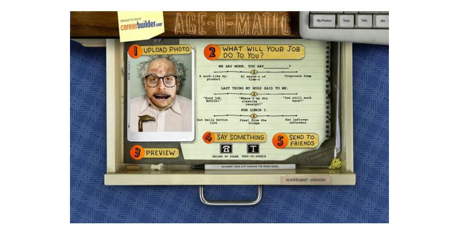 2008 Webby Winner - CareerBuilder.com Age-o-Matic