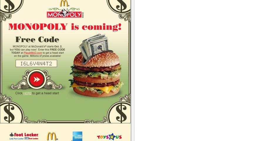 People's Voice - McDonald's Monopoly 2007