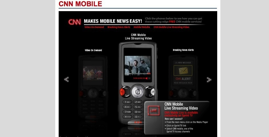 2008 Webby Winner - CNN Mobile