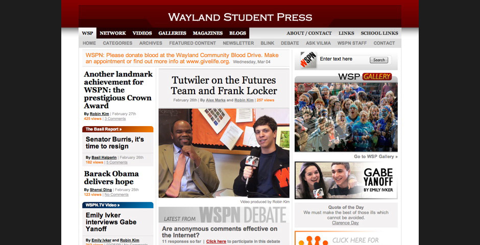 People's Voice - Wayland Student Press Network