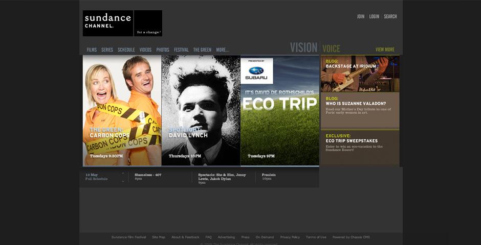 Webby Award Nominee - Sundance Channel