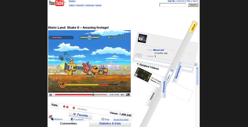 2009 Webby Winner - Wario Land Shake it!