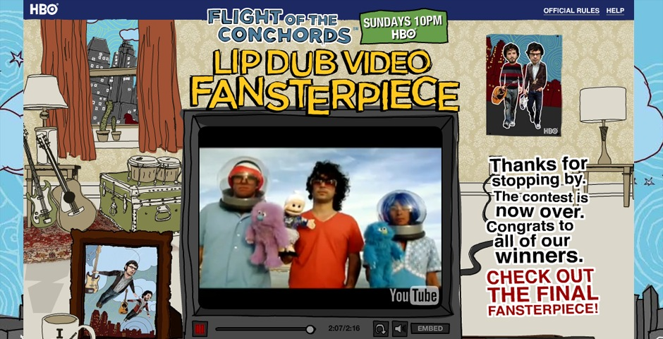 People's Voice / Webby Award Winner - Flight of the Conchords Lip Dub