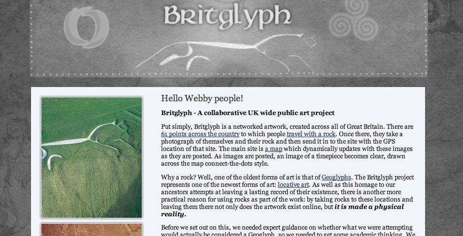Webby Award Winner - Britglyph