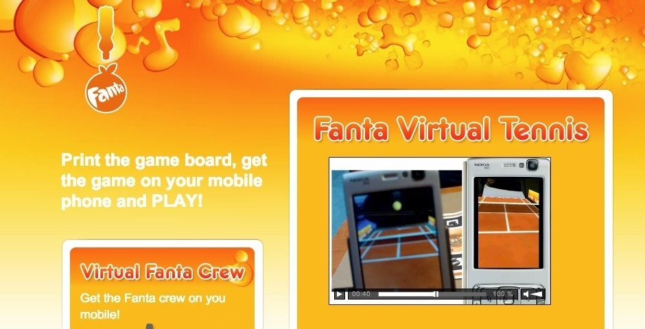 2009 Webby Winner - Fanta Virtual Tennis