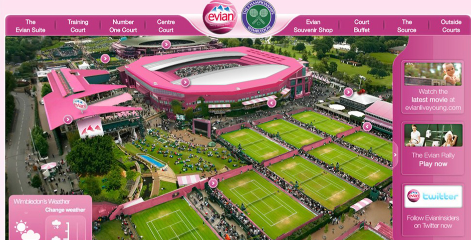 Nominee - Evian at Wimbledon