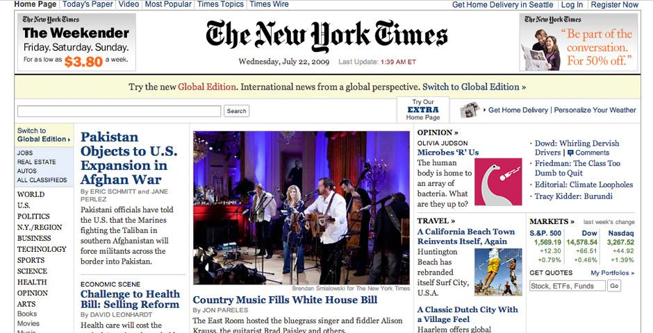 2010 Webby Winner - NYTimes.com