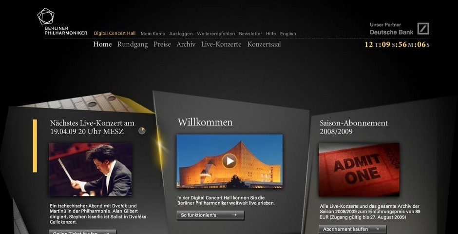 Webby Award Nominee - Digital Concert Hall