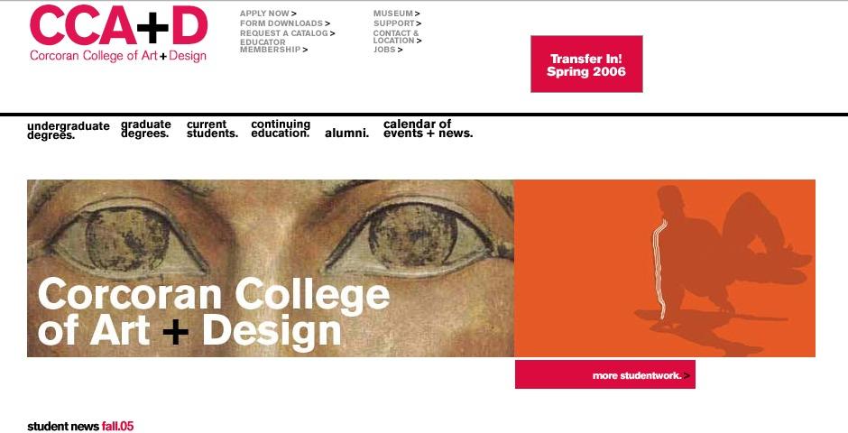 Nominee - Corcoran College of Art + Design Web Site