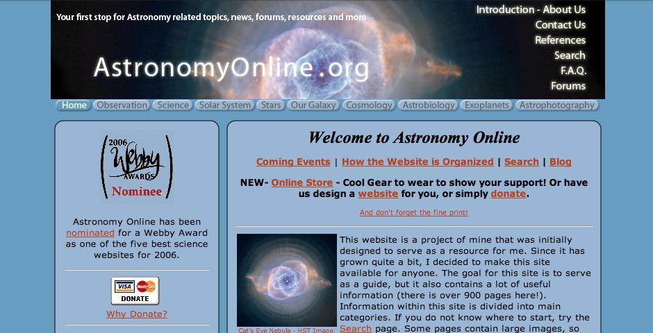 Nominee - Astronomy Online