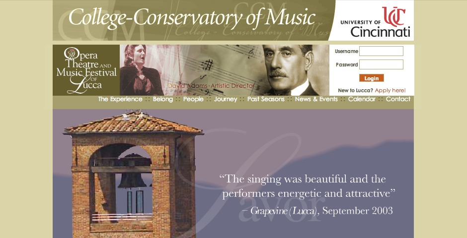Nominee - College-Conservatory of Music: Opera Lucca Program