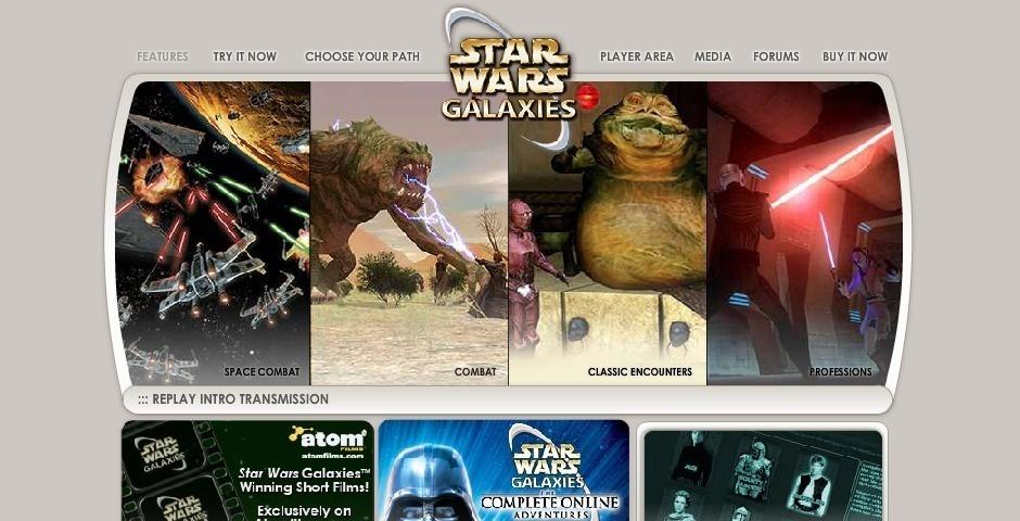 Webby Award Nominee - Star Wars Galaxies