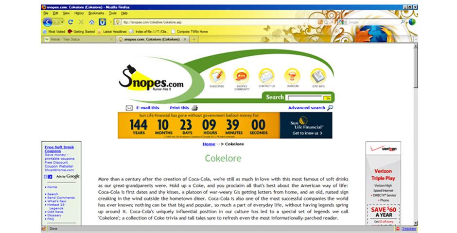 2006 Webby Winner - Snopes.com