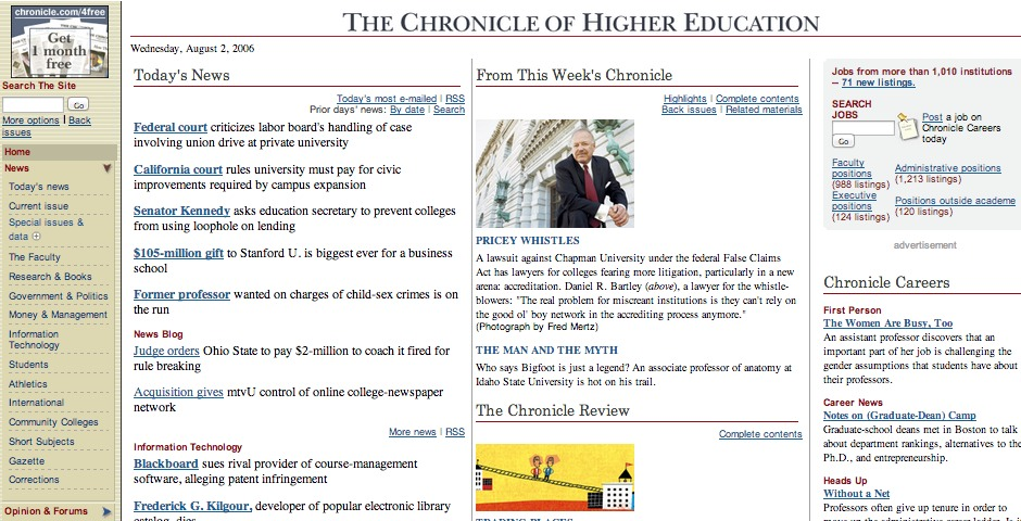 Nominee - The Chronicle of Higher Education