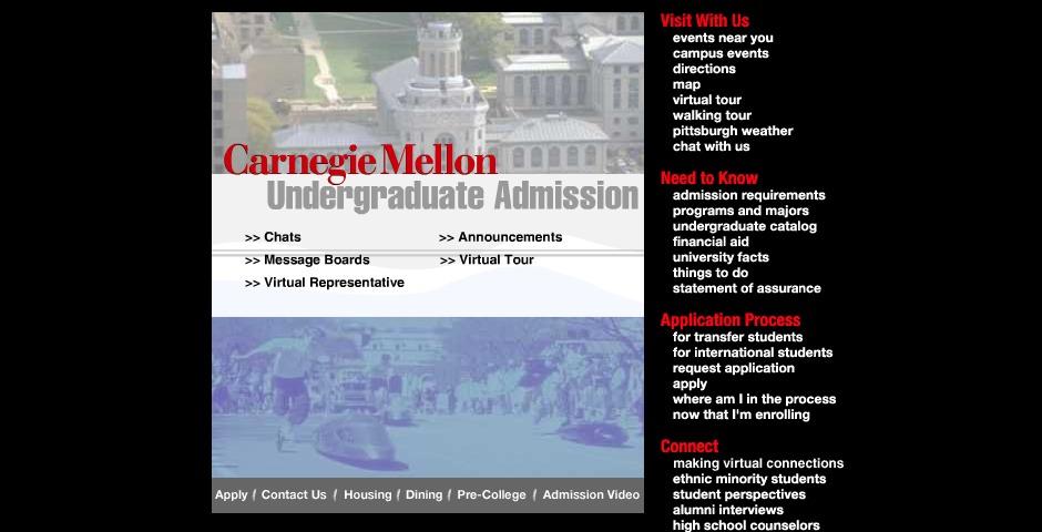 Nominee - Carnegie Mellon Admissions