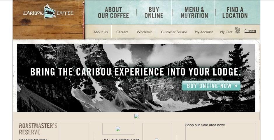 Webby Award Nominee - Caribou Coffee