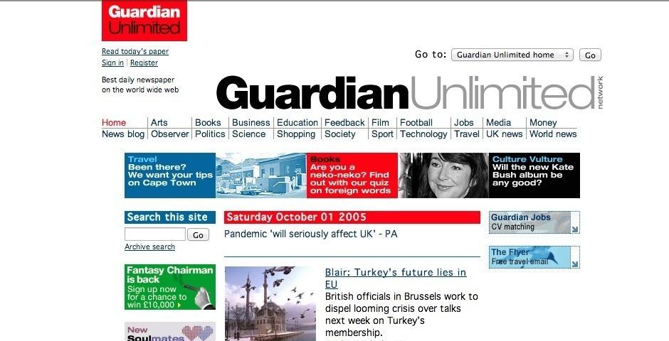 Webby Award Nominee - Guardian Unlimited