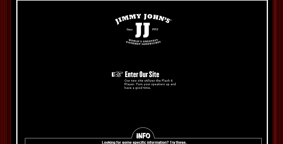 Nominee - Jimmy John's Web Site Redesign