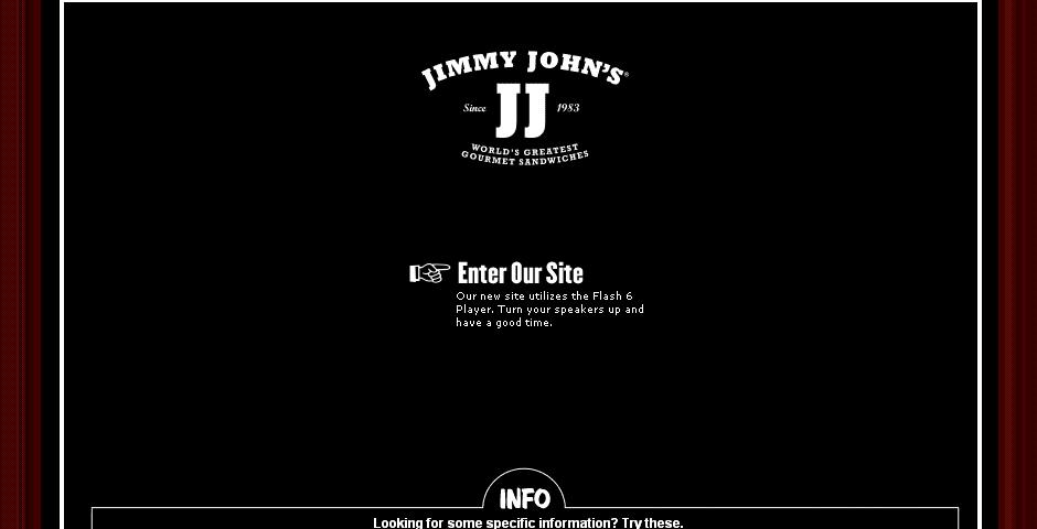 Webby Award Nominee - Jimmy John\'s Web Site Redesign