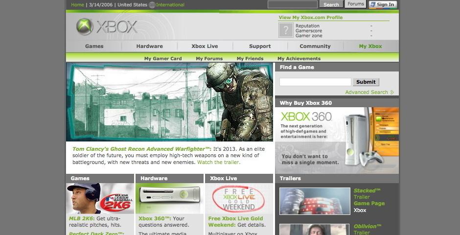Webby Award Nominee - Xbox.com