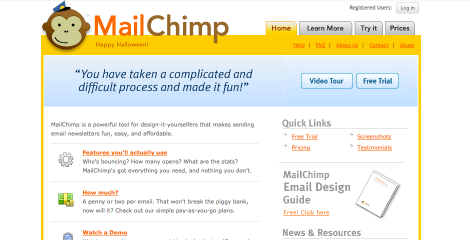 Nominee - MailChimp Website