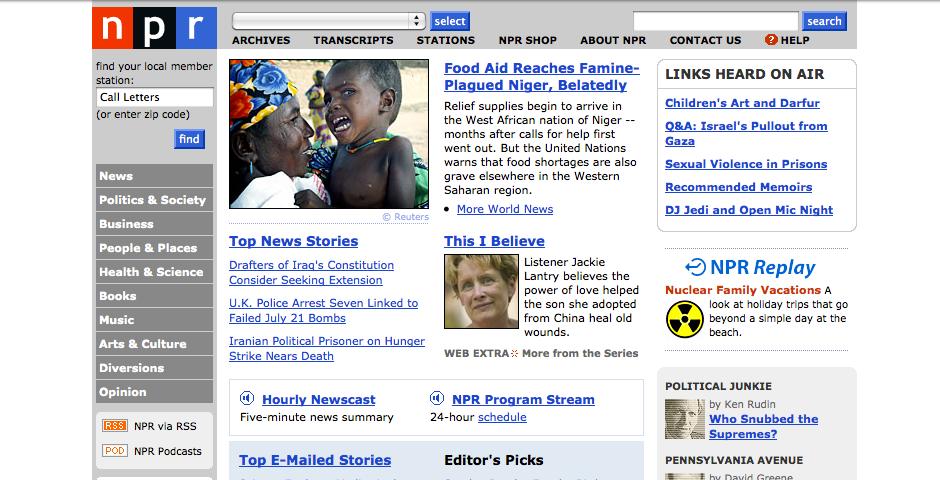 Webby Award Nominee - NPR.org