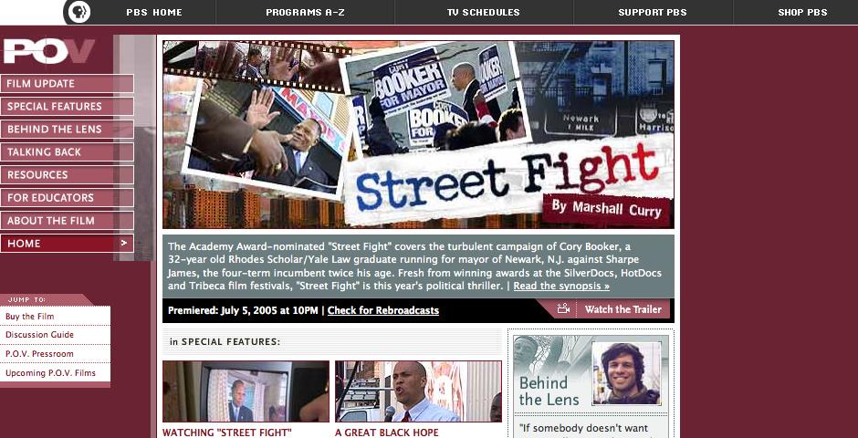 Webby Award Nominee - P.O.V. - Street Fight | PBS
