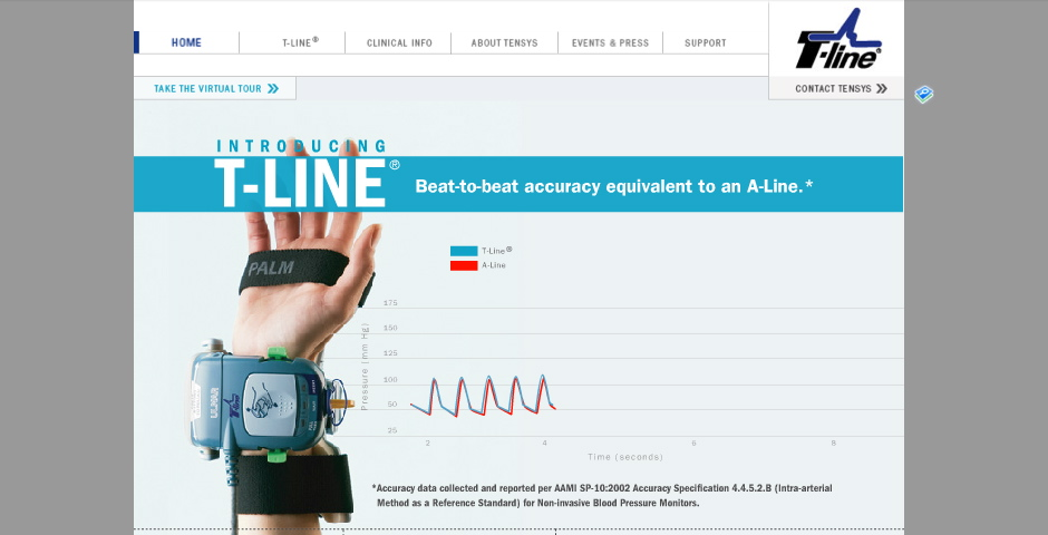 Nominee - Tensys Medical Website