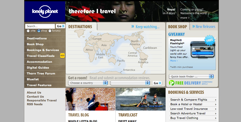 Webby Award Nominee - LonelyPlanet.com