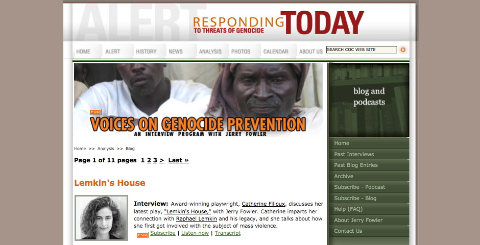 Nominee - Voices on Genocide Prevention