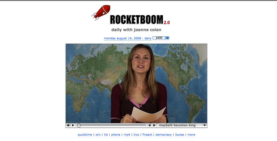 Webby Award Nominee - Rocketboom