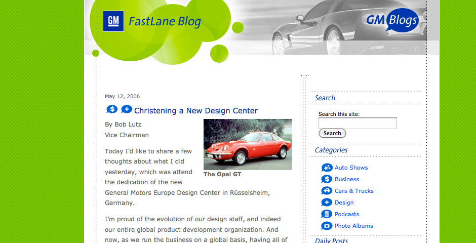 Nominee - GM FastLane blog
