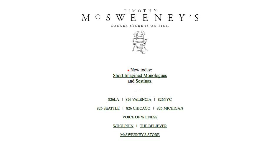 Nominee - McSweeney's Internet Tendency