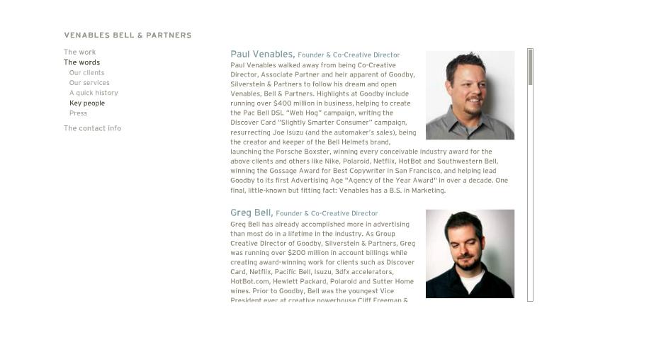 Nominee - Venables Bell & Partners